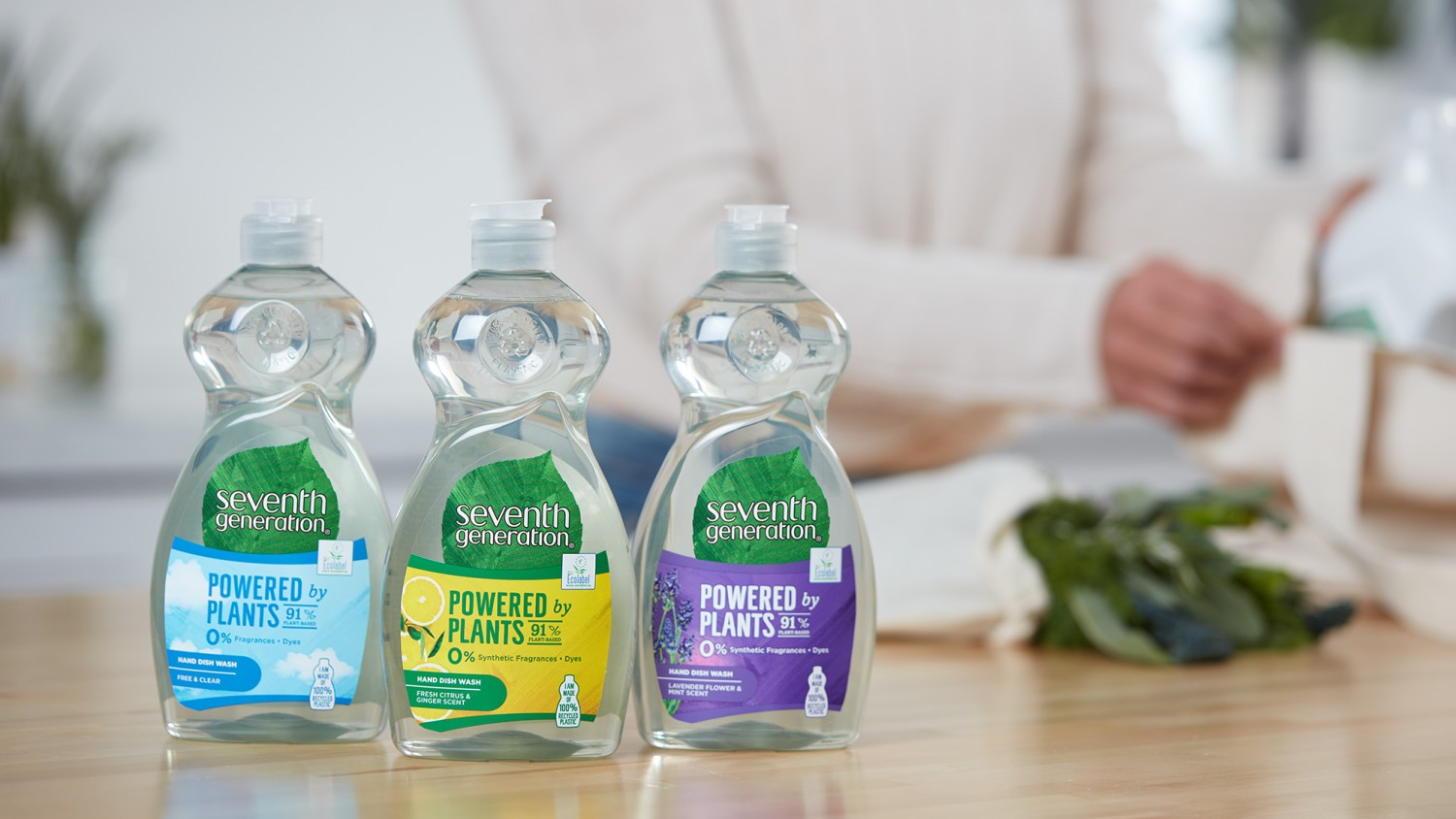 Seventh Generation washing up liquid family